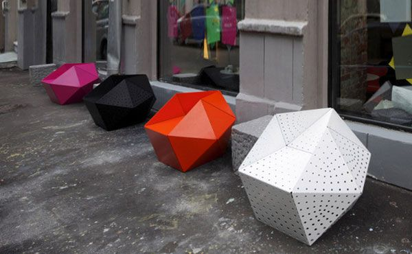 metal Polyhedron Stool