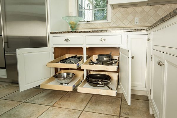 pull out shelves in kitchen