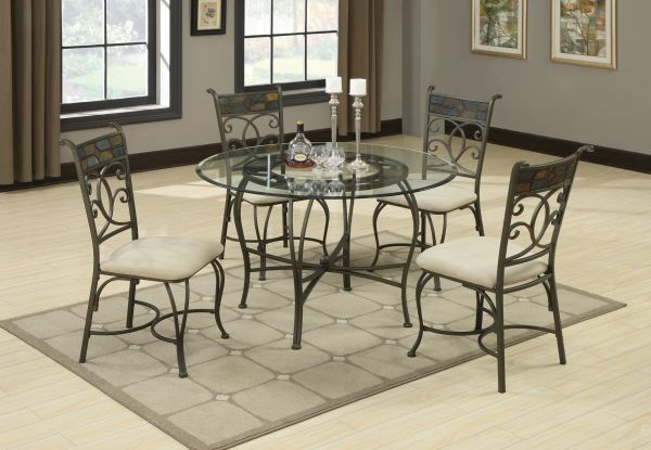 Decorating Your Dining Room with Iron Dining Table_2