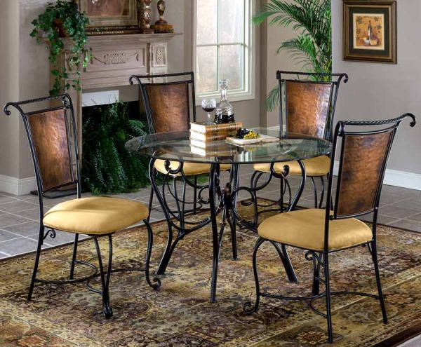 Decorating Your Dining Room with Iron Dining Table_5