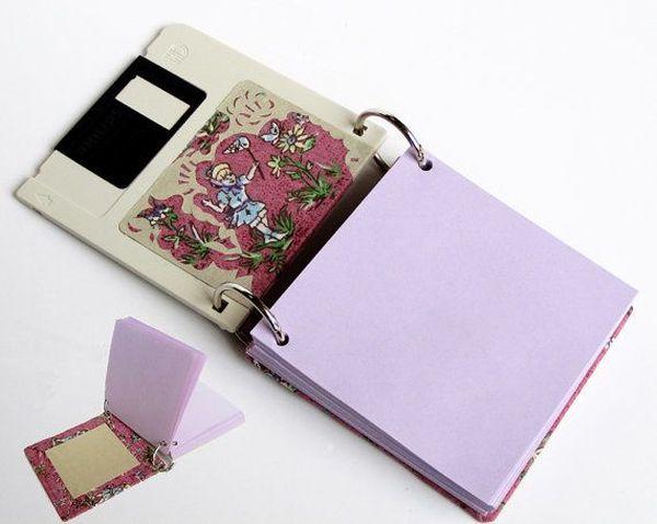 Upcycled Floppy Disk Notepad