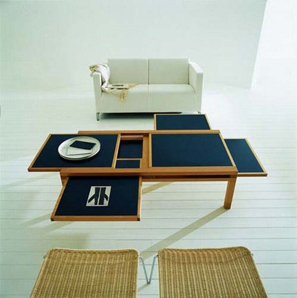 Expandable Coffee Table by Scultures Jeux