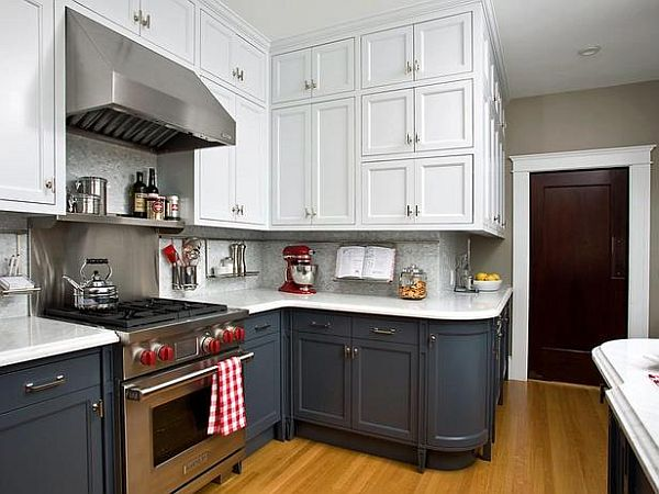 Kitchen Cabinets with Two or More Colors