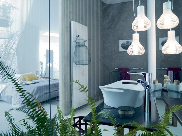 Pendant Lighting in bathroom
