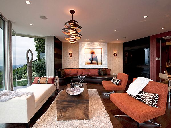 Pendant Lighting in living room