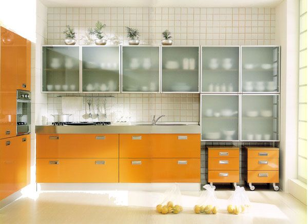 Transparent kitchen Cabinets