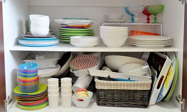 crockery in pantry