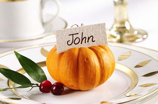 pumpkins as place cards