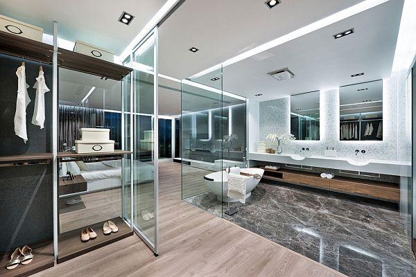 transparent glass SEPARATION