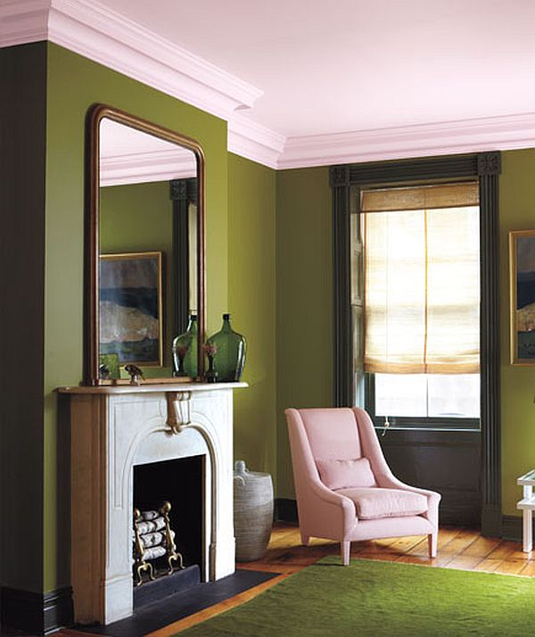 Olive, Petal Pink and Moss Green Interior