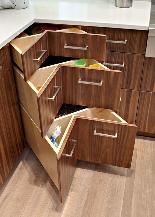 Opt for corner drawers