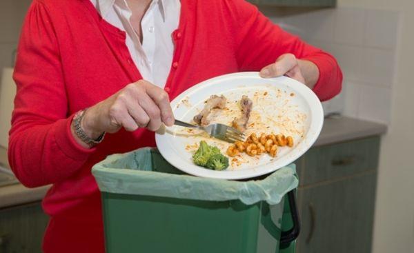 Scrape the food