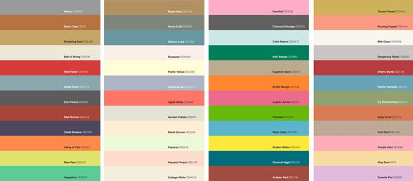 color palette from Dunn-Edwards