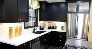 kitchen with black cabinets (4)