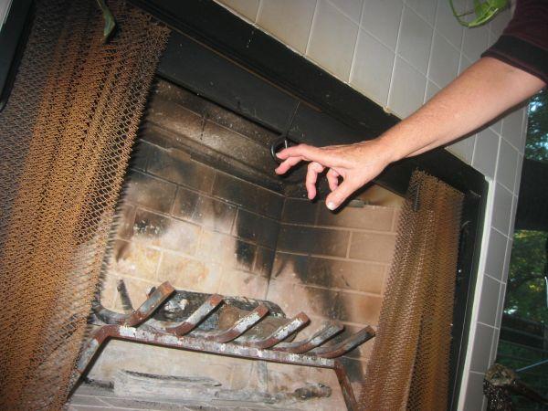 Close the chimney damper