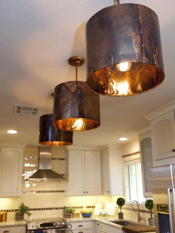 Copper inspired lighting fixtures