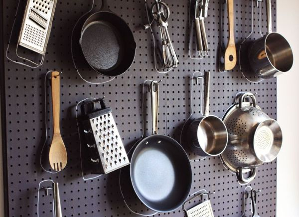 Kitchen pegboards