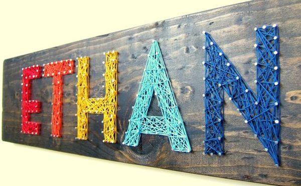 Letter yarn art