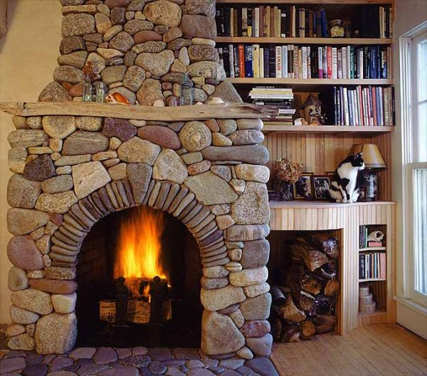 clean fireplace