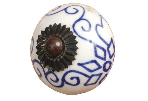 Patterned ceramic doorknobs
