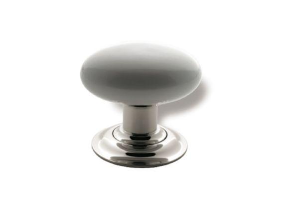 white ceramic doorknob