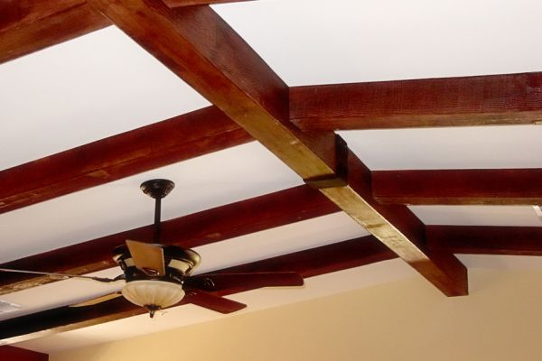 wooden beams on the ceiling  2