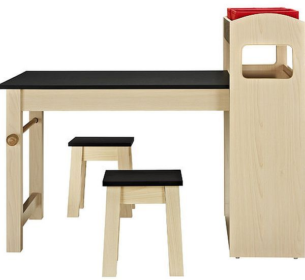 3-piece desk and activity table