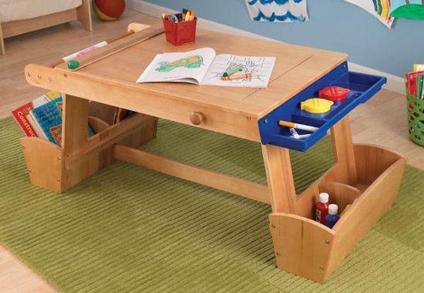 Kidkraft art table with drying rack