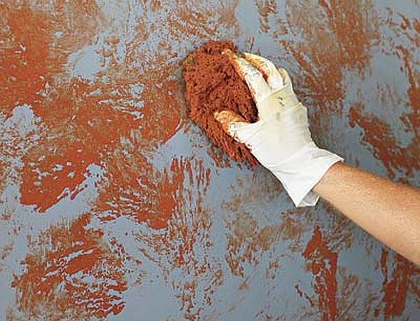 Sponge paint your rooms (3)