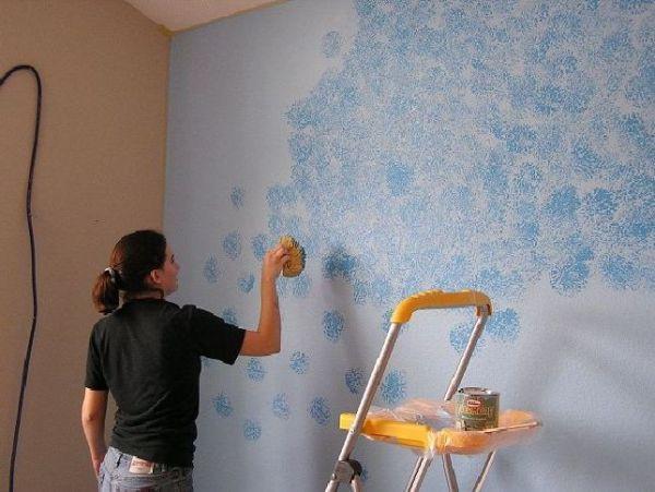 Sponge paint your rooms (4)
