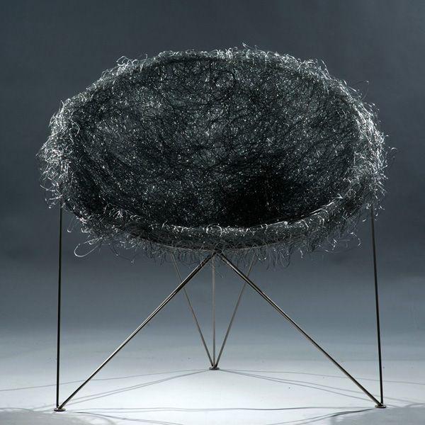 Stainless Steel Nest Chair by Pawel Grunert