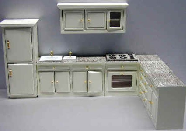 dollhouse kitchen cabinets 6 - Dollhouse Kitchen