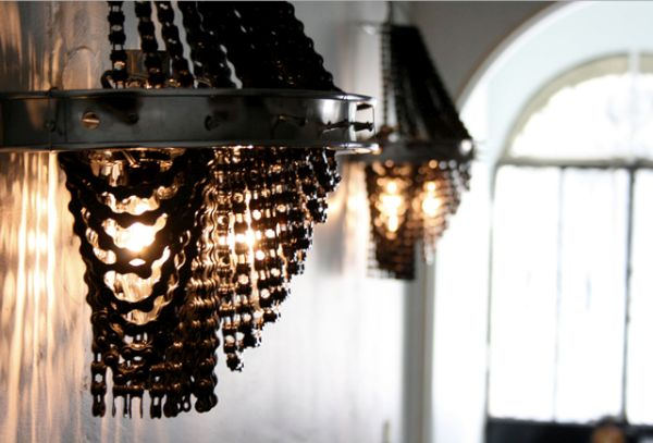 Chandelier made of Old Bike Parts