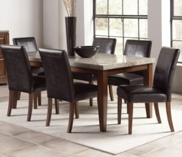 Dual Color Granite Top Dining Table