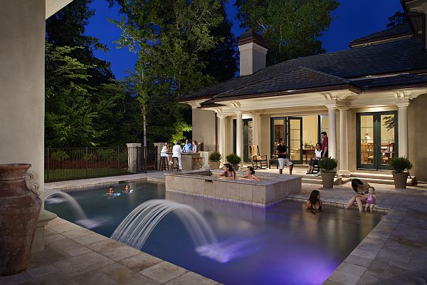 Outdoor Lighting Perspectives - Benham Pool Party