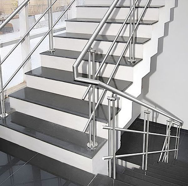 Steel staircase
