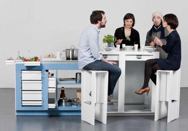 Three-in-one kitchen counter by Albecht Seeger and Martin Klinke