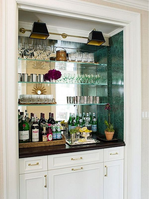 closet converted into bar