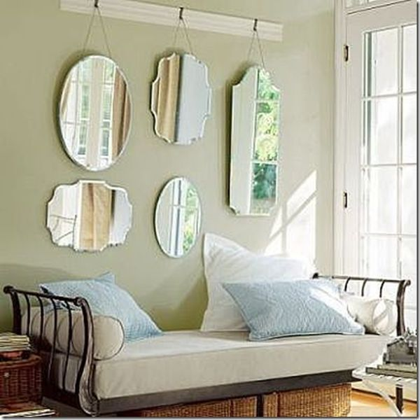 grouping a selection of much smaller mirrors