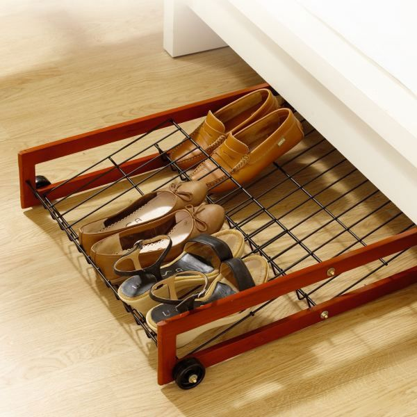 Bed plus shoe rack