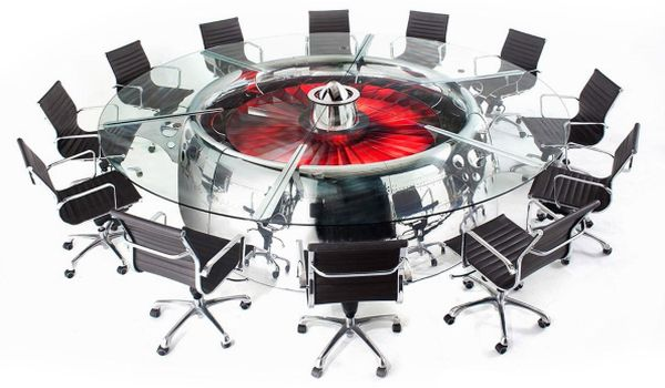 Jumbo jet round dining table