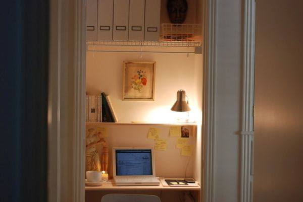big cupboard into the study area