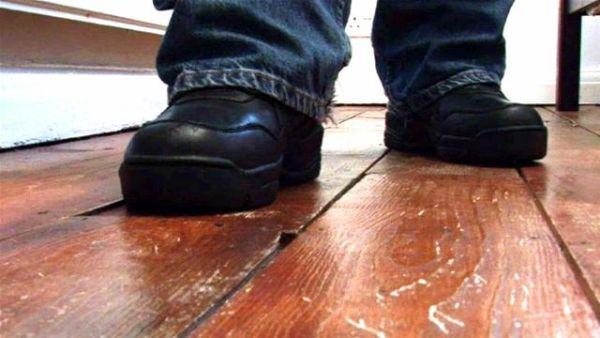 Install Screws to secure loose floorboards