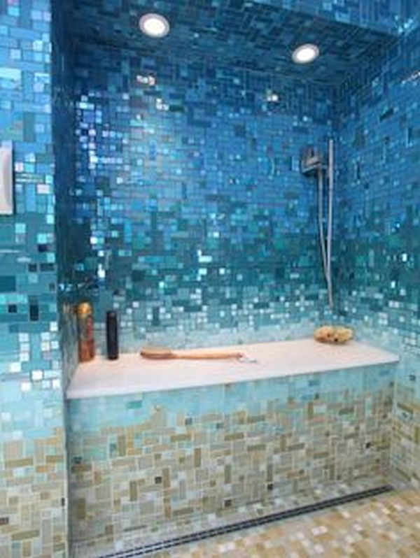 Ocean colored tile