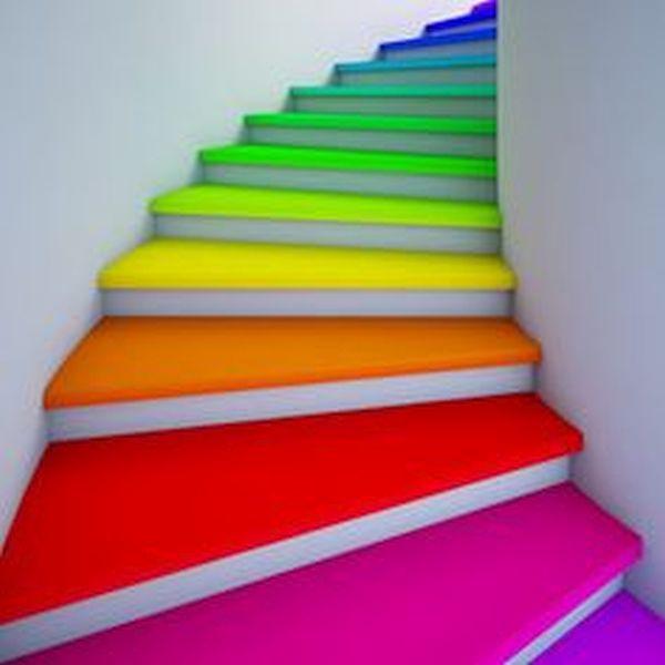 Rainbow Burst Staircase