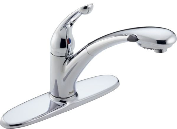 Single-handed kitchen faucets