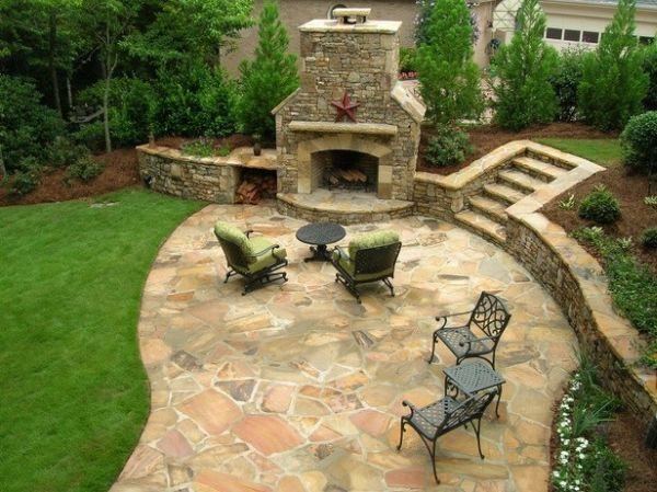 Flagstone patio (4)