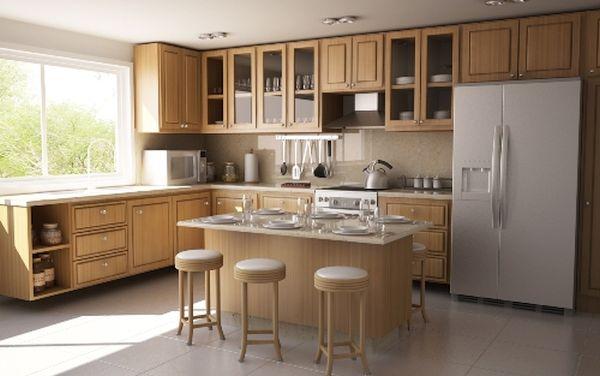 The L-shape kitchen layout