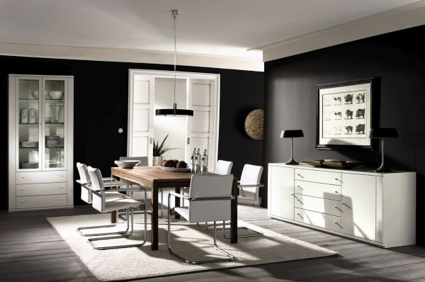 Using black for furnishings