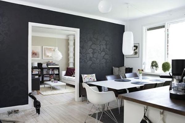 Using black in a naturally bright room